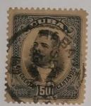 Stamps Cuba -  Antonio Maceo 50 ctvs