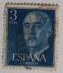 Stamps Spain -  Franco 3 ptas
