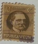 Stamps Cuba -  Estrada Palma 10 c