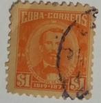 Stamps Cuba -  Carlos Manuel de Céspedes 1Peso