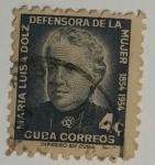 Stamps : America : Cuba :  Maria Luisa Dolz 4c