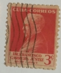 Stamps Cuba -  Dr. Francisco Carrera Justiz