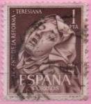 Stamps Spain -  V centenario d´l´reforma Teresiana (Santa Teresa escultura d´BVemini)