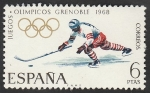 Sellos del Mundo : Europa : España : 1853 - Olimpiadas de invierno en Grenoble
