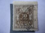 Sellos del Mundo : Europa : Polonia :  Aguila - Cornetas de Correo. Serie:Eagle(brown,Groszy/zloty)