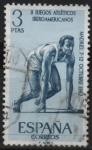 Stamps Spain -  II juegos Atleticos Iberoamericanoos (Salida)