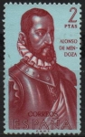 Stamps Spain -  Alonso d´Mendoza