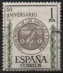 Stamps Spain -  L aniversario d´l´union Postal d´l´Americas y España