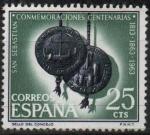 Stamps Spain -  Conmemoraciones centenarias d´San Sebastian (Sellos d´l´Ciudad)