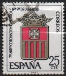 Stamps Spain -  LXXV aniversario d´l´coronacion d´Nuestra Señora d´l´Merced (Escudo d´l´Orden )
