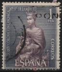 Sellos de Europa - España -  LXXV aniversario d´l´coronacion d´Nuestra Señora d´l´Merced (Virjen d´l´Merced )