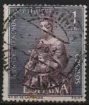 Stamps Spain -  LXXV aniversario d´l´coronacion d´Nuestra Señora d´l´Merced (Virjen d´l´Merced )
