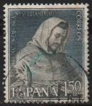 Stamps Spain -  LXXV aniversario d´l´coronacion d´Nuestra Señora d´l´Merced (San Pedro Nolasco )
