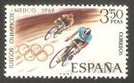 Sellos del Mundo : Europa : España : 1887 - Olimpiadas de Mexico 68, ciclismo