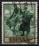 Stamps Spain -  Tipos Manchegos