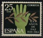 Stamps Spain -  XXV años d´paz Española (Alegoria d´l´Paz)