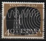 Stamps Spain -  XXV años d´paz Española (Telecomunicaciones)