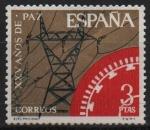 Stamps Spain -  XXV años d´paz Española (Electrificacion)