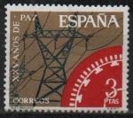 Sellos de Europa - España -  XXV años d´paz Española (Electrificacion)