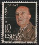 Sellos de Europa - España -  XXV años d´paz Española (General Franco)