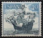 Stamps Spain -  Homenaje a la marina Española (Nao Santa Maria)