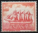 Stamps Spain -  Homenaje a la marina Española (Buque escuala Juan Sebastian el Cano)