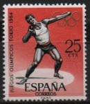 Stamps Spain -  Juegos Olimpicos d´Innsbruck y Tokio (Salto d´Longitud )