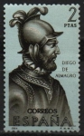 Stamps Spain -  Diego d´Almagro