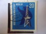 Sellos de Europa - Alemania -  Exposición de Radio,Berlín 1963 - Oso y Torre de Radio.
