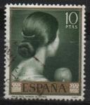 Stamps Spain -  Romero d´Torres (Viva el Pelo)