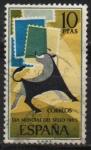 Stamps Spain -  Dia mundial d´sello 1965