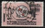 Sellos de Europa - España -  Centenario d´l´Union internacional d´l´Telecomunicaciones