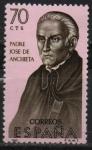 Stamps Spain -  Padre Jose d´Anchieta