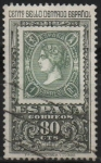 Stamps Spain -  Centenario d´primer sello dentedo (sello d´1 real d´1865