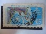 Stamps Sri Lanka -  Mapa Carreteras Asiáticas- Serie: Ecafe 25 Años (1947-1972) - ONU.