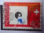 Stamps Switzerland -  50° Festivcal Federal de Fusileros - Lucerna, Julio 7-22-1979 - 50° Eddg, Schützenfest Luzern