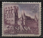 Stamps Spain -  Castillos d´España (Alcazar d´Segovia)