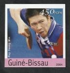 Stamps : Africa : Guinea_Bissau :  Olimpiadas de Atenas, Ruy Seung Min, tenis de mesa