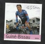 Stamps : Africa : Guinea_Bissau :  Olimpiadas de Atenas, Tyler Hamilton, ciclismo