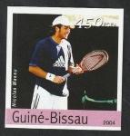 Stamps : Africa : Guinea_Bissau :  Olimpiadas de Atenas, Nicolas Massu, tenis