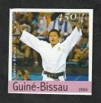 Stamps : Africa : Guinea_Bissau :  Olimpiadas de Atenas, Tadahiro Nomura, judo