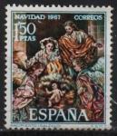 Stamps Spain -  Navidad (Nacimiento 1967)