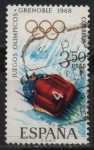 Stamps : Europe : Spain :  X Juegos Olimpicon d´invierno en Grenoble (Bobsieigh )