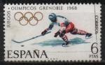 Sellos de Europa - España -  X Juegos Olimpicon d´invierno en Grenoble (Hockey sobre hielo)