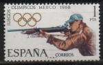 Sellos de Europa - España -  XIX Juegos Olimpicon en Mejico (Tiro)