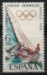 Stamps Spain -  XIX Juegos Olimpicon en Mejico (Vela)
