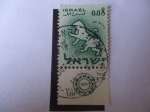 Stamps Asia - Israel -  Leo - Signos Zodiacales.