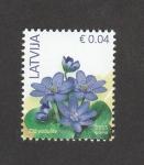 de Europa - Letonia -  Anémonas azules