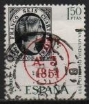Sellos de Europa - España -  Dia mudial d´sello ( Fechador d´llegada d´Madrid)