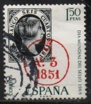 Stamps Spain -  Dia mudial d´sello ( Fechador d´llegada d´Madrid)